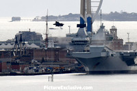 F35 takes off from HMS Queen Elizabeth in  Portsmouth